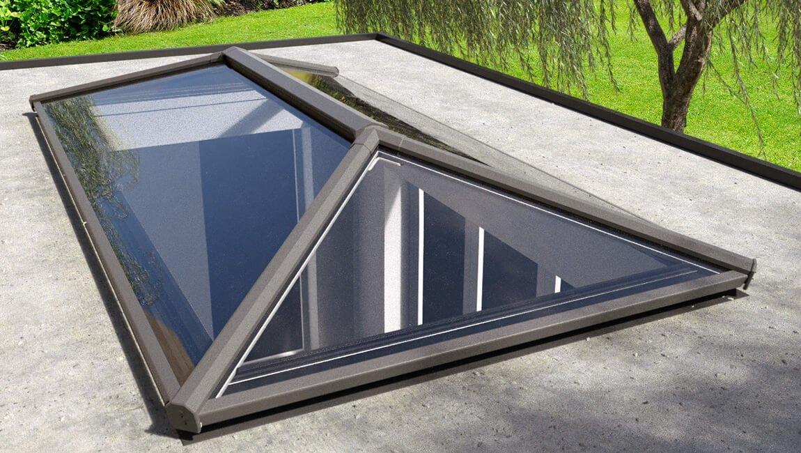 Black uPVC roof lantern