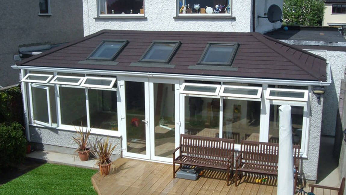 Large tiled conservatory roof