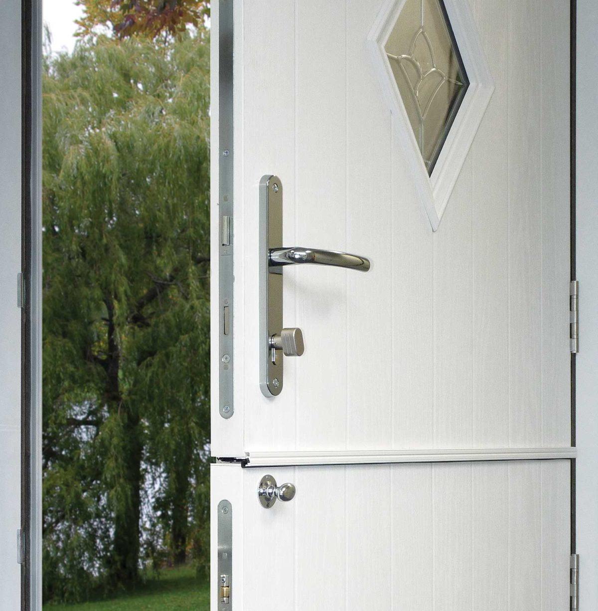 White composite stable door