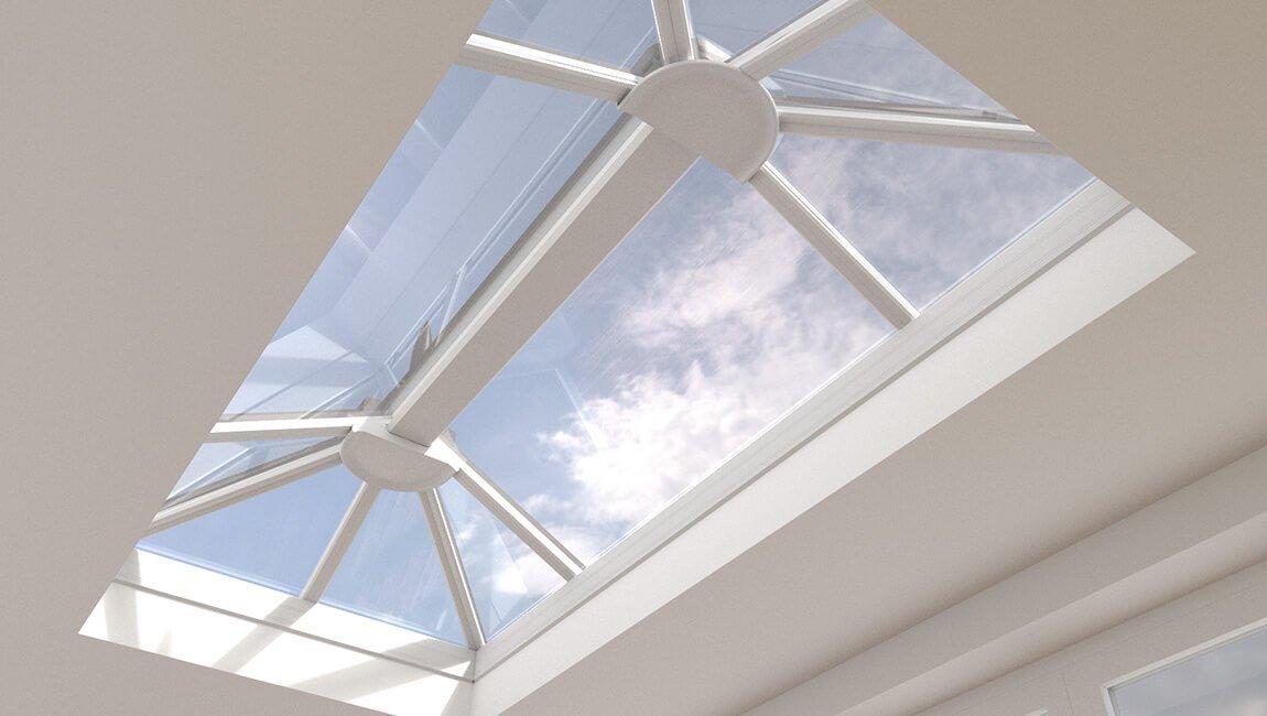 White roof lantern interior upvc