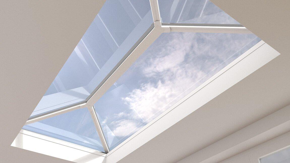 White roof lantern uPVC installation
