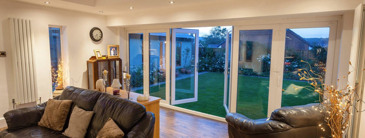uPVC bifold door interior view