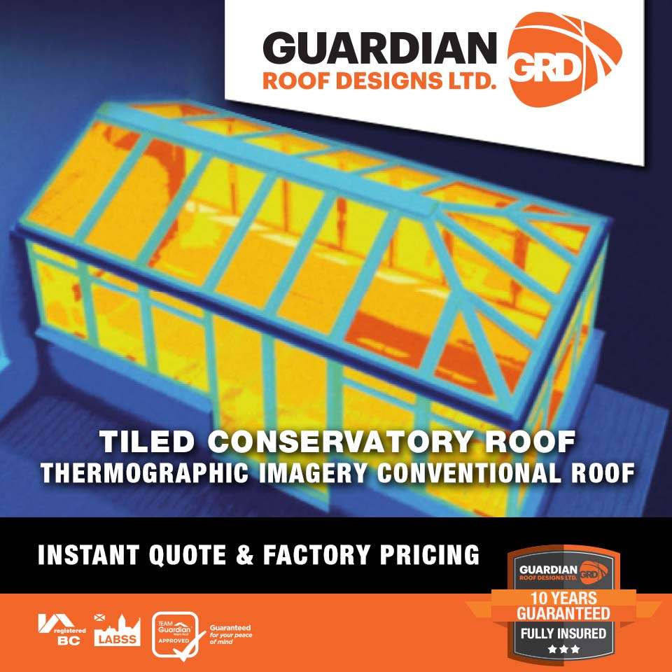 Conventional Conservatory Roof Thermal Image