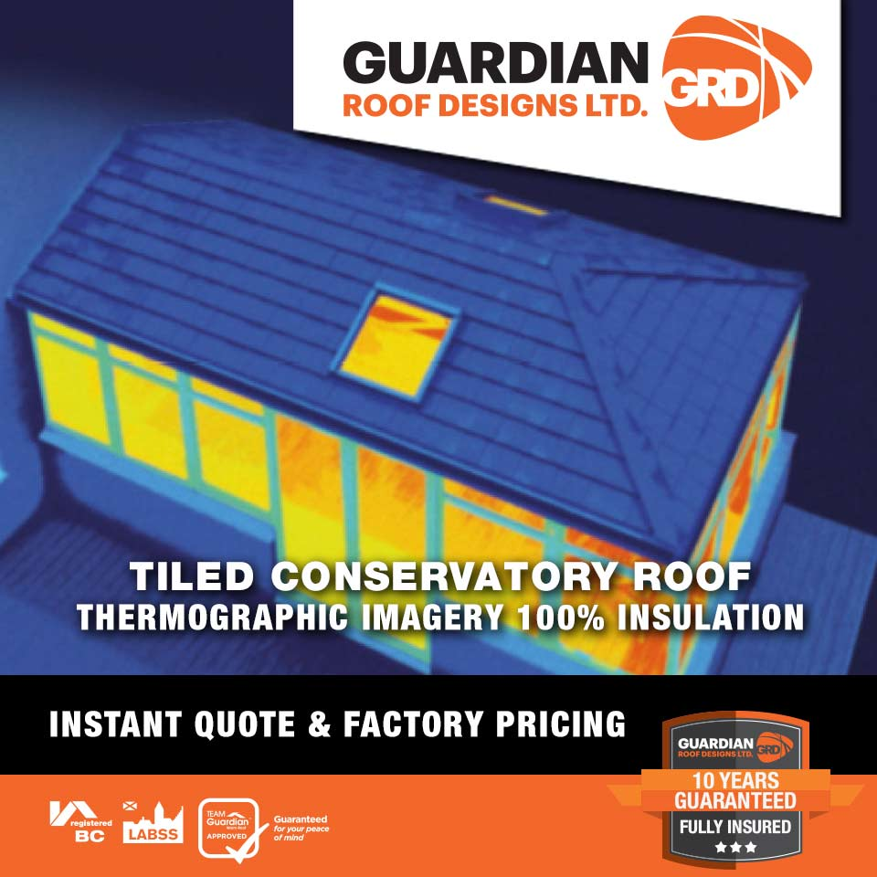 Tiled Conservatory Roof Thermo Image with a Guardian Warm Roof